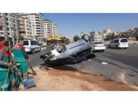 Şanlıurfa'da ters dönen otomobilin sürücüsü yaralandı