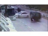 Bodrum'daki kaza güvenlik kamerasına yansıdı
