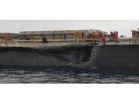 Marmara Denizi'nde çarpışan gemilerin hasar tespiti yapıldı