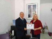 Ünsal'dan, Sever'e teşekkür belgesi