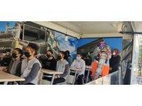 Çankırı'da öğrencilere simülasyon tırında deprem eğitimi