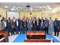 Merkez köy muhtarlarından, Başkan Sözen'e ziyaret