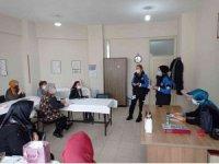 Sinop polisinden kadınlara KADES tanıtımı