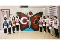 Ortaokul öğrencileri özgün tasarımlarını tişörtlere yansıttı