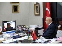 Başkan Altınok, telekonferansla Azerbaycanlı başkanlarla buluştu