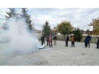 Kulu'da yangın tatbikatı gerçekleştirildi