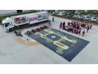 Van'da mobil trafik eğitim tırında 8 okuldan katılan 720 öğrenciye eğitim verildi