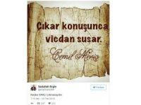 Sadullah Ergin: 'Çıkar konuşunca vicdan susar'