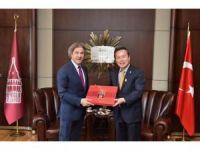 Yecheon Belediye Başkanı Başkan Demircan'ı Ziyaret Etti