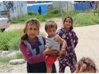 Suriyeli çocuklar pis sularda yıkanıyor