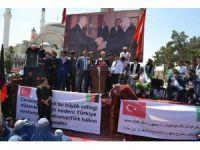Afganistan Türkmenlerinden Türkiye'ye destek yürüyüşü