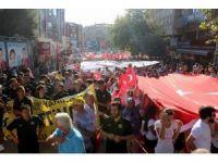 Tekirdağ'da darbeye karşı dev yürüyüş