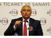 """ATSO Başkanı Çetin: """"Antalya'nın ekonomik göstergeleri düşüşte"""""""