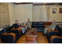 Korgeneral Temel, Vali Aksoy'u ziyaret etti