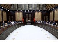 Cumhurbaşkanı Erdoğan Meclis Başkanı Kahraman ve Başkanlık Divanını kabul etti