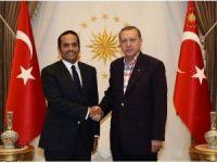 Cumhurbaşkanı Erdoğan, Katar Dışişleri Bakanı Abdurrahman Al-Thani'yi Kabul Etti