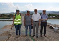 Başkan Karataş Koyunbaba Köprüsünde incelemelerde bulundu