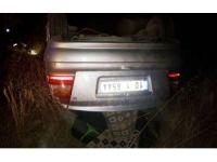Eşeğe çarpan otomobil takla attı: 1 ölü, 1 yaralı