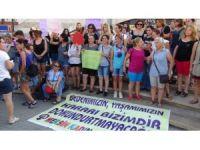Mersin'de şortlu protesto