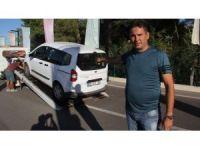 Antalya'da taksicilerin kontak kapatma eylemi