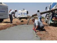 Suriye sınırında güvenlik duvarı çalışmaları hızlandı