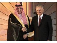 Başbakan Yıldırım, Suudi Arabistan Veliaht Prensi Al Suud'u resmi törenle karşıladı