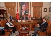 Azeri gazeteciden Başkan Yağcı'ya ziyaret
