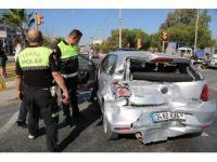 Milas'ta ışıktaki arıza kazaya sebep oldu