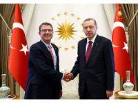 Cumhurbaşkanı Erdoğan, ABD Savunma Bakanı Carter ile bir araya geldi