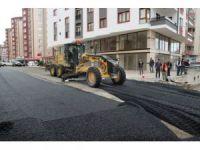 Trabzon Büyükşehir Belediyesinin yol çalışmaları devam ediyor