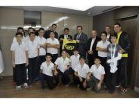 GKV'li sporculardan Fadıloğlu'na teşekkür ziyareti