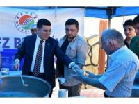 Kepez'de bin kişiye aşure ikramı