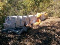Hakkari'de teröristlere ait 72 bin paket kaçak sigara ele geçirildi