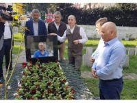 Başkan Muharrem Usta, Kadir Özcan'ın mezarını ziyaret etti