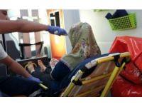 Akrebin soktuğu kadın hastaneye kaldırıldı