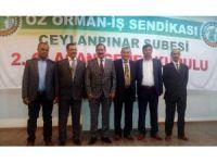 Öz Orman-İş Ceylanpınar Şubesinin yeni Başkanı Mustafa Akgeyik oldu
