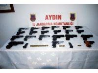 Söke'de çok sayıda silah ele geçirildi