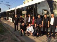 Samsun'un ilk yerli tramvayının testleri yapılıyor