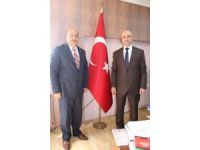 ESOB Başkanı Abdülkadir Konak, Baro Başkanı Turgay Şahin'i ziyaret etti
