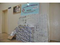 Nefes kesen kovalamacada 5 bin paket kaçak sigara ele geçirildi