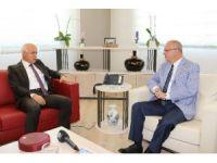 Bayrak'tan Başkan Ergün'e veda ziyareti