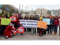 Çocuk istismarına ve kadına yönelik şiddete karşı basın açıklaması yaptılar