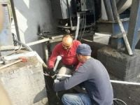 Şantiyeye fueloil yakıt şebekesi döşendi