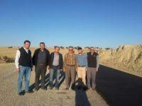 Korkuteli Büyükköy yoluna sıcak asfalt