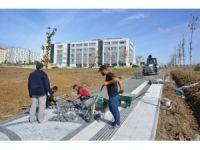 NKÜ kampüs giriş kapısı peyzaj çalışması ve yol düzenlemeleri tüm hızıyla devam ediyor