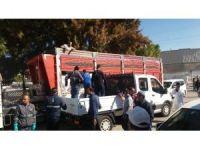 Foça'da çiçek hastalığı için 600 torba kireç dağıtıldı