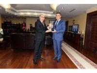 Balıkesir'e atanan Emniyet Müdürü Zeybek'ten, Vali Demirtaş'a veda ziyareti