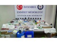 İstanbul'da sahte ilaç operasyonu kamerada
