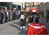 Yıldırım çarparak şehit olan asker için tören düzenlendi