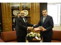 Bakan Tüfenkci, Venezuela Büyükelçisi Bracho Reyes'i ağırladı